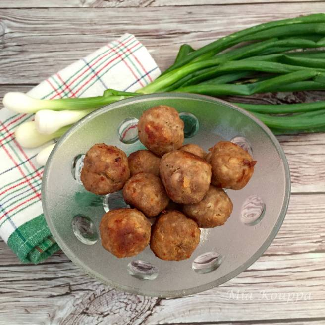 Meatballs made with pork and veal