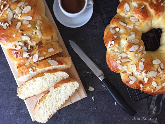 Tsoureki (Τσουρέκι), greek easter bread