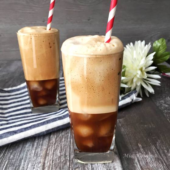 Greek Frappe coffee. Greek iced coffee