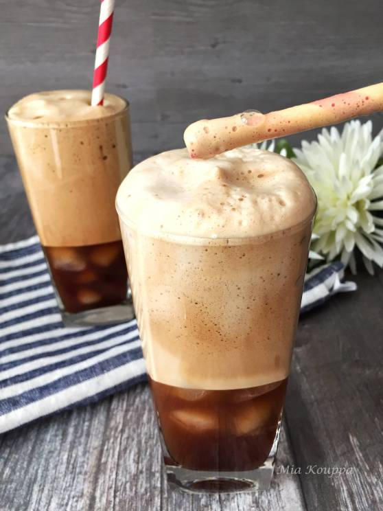 Greek Iced Coffee. Greek Frappe coffee