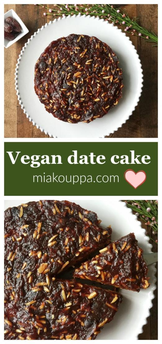 Vegan date cake (Νηστίσιμο γλυκό με χουρμάδες)