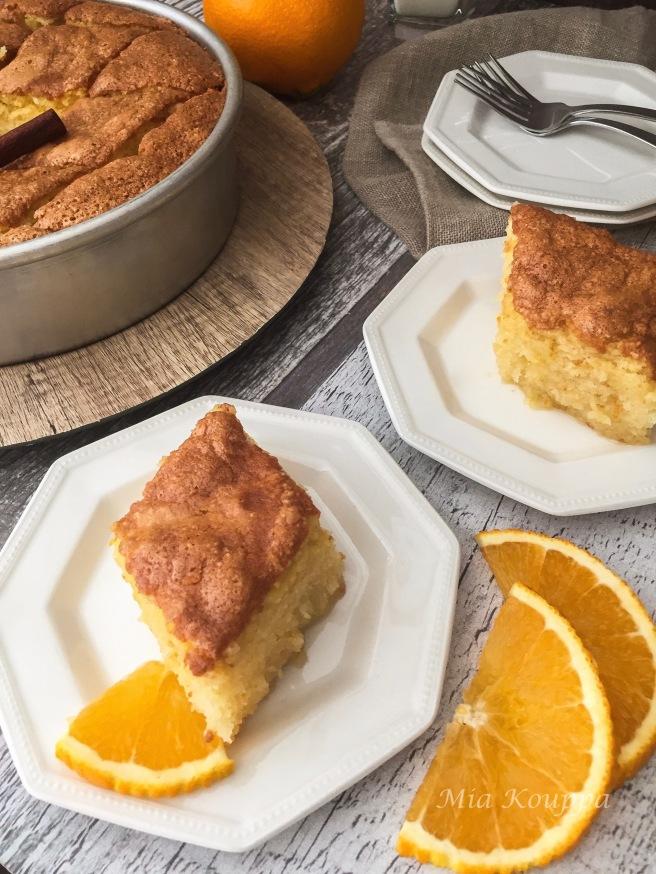 Pantespani (Παντεσπάνι). Orange sponge cake