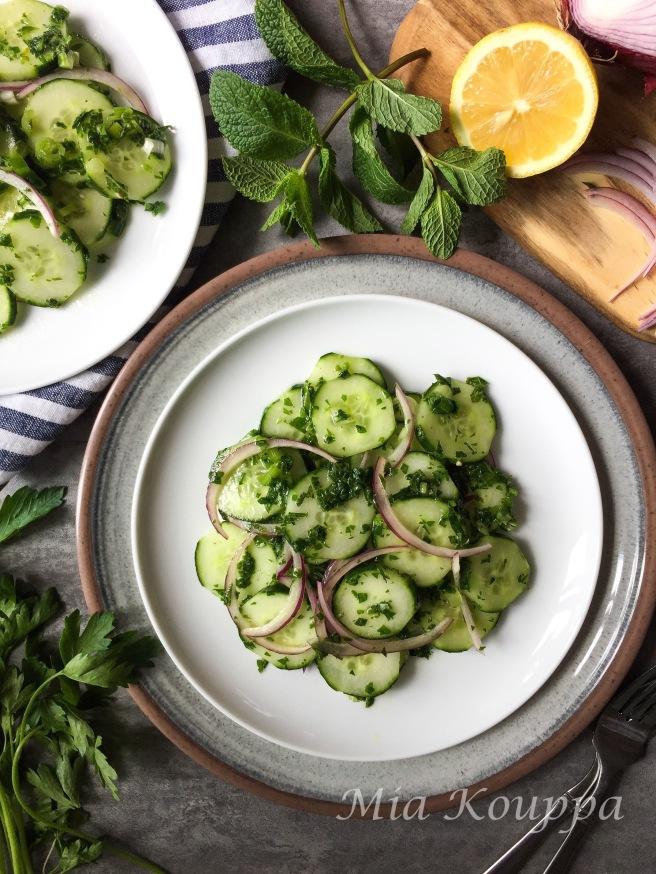 Cucumber salad (Αγγουροσαλάτα)