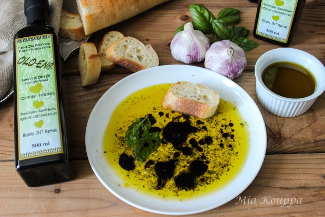 Olive oil dip with balsamic