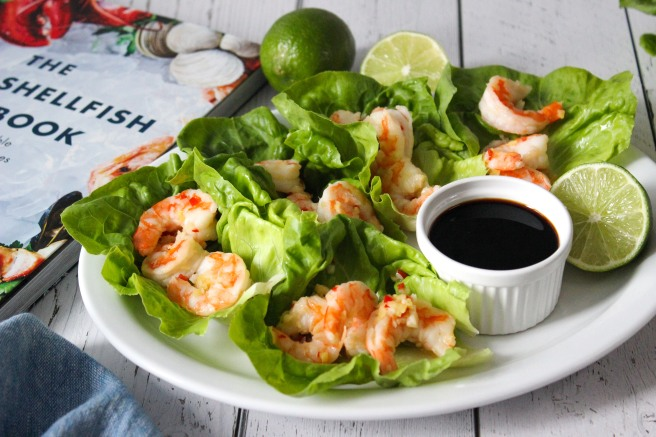 Chili lime side stripe shrimp lettuce wraps
