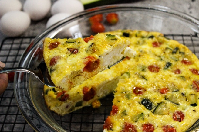 Zucchini and cherry tomato frittata
