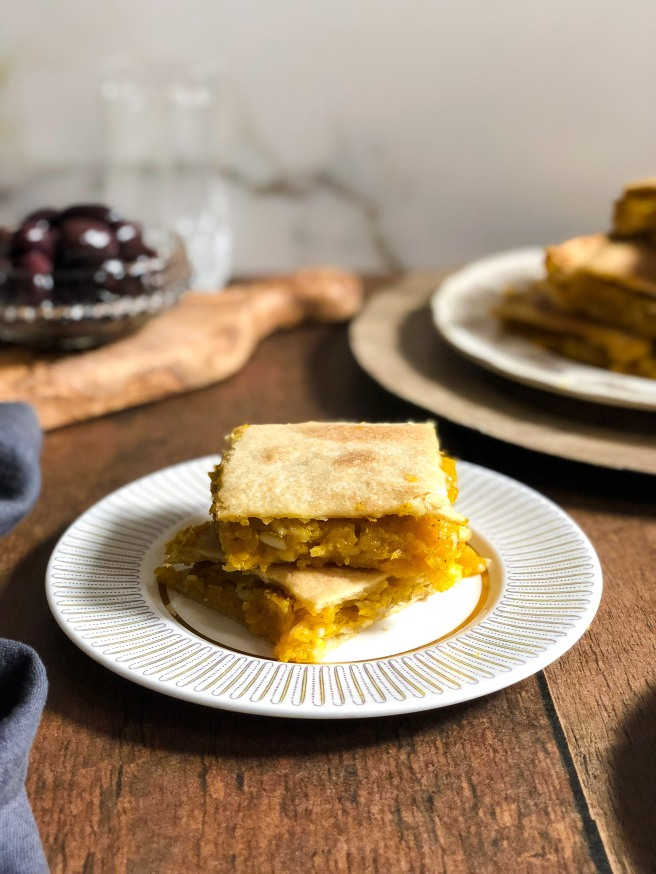 Pumpkin or winter squash pita (Πίτα με γλυκοκολοκύθα)